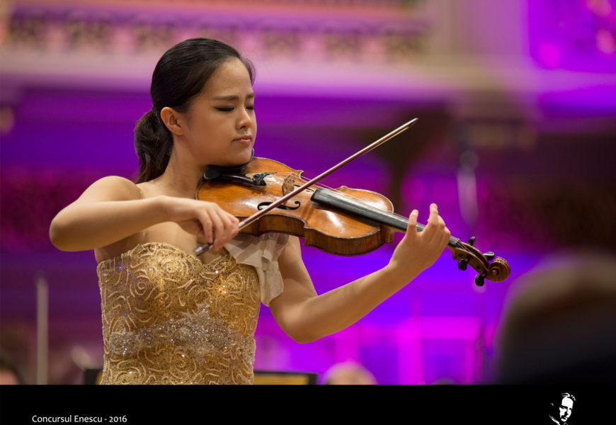 Violonista Gyehee Kim din Coreea de Sud  câștigă Concursul Enescu 2016 la Secțiunea Vioară