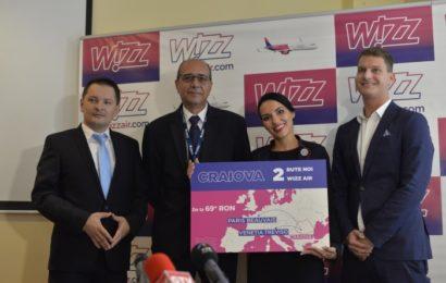 Wizz Air anunță două noi rute din Craiova, spre Paris si Veneția