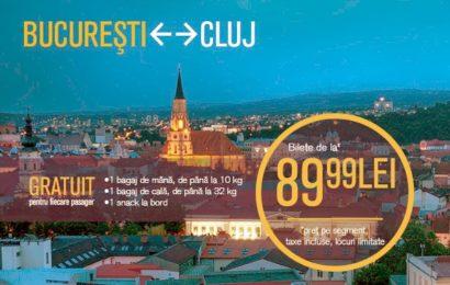 Blue Air anunta noi rute din Cluj-Napoca
