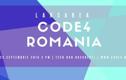 "S-a lansat oficial comunitatea ""Code for Romania"""