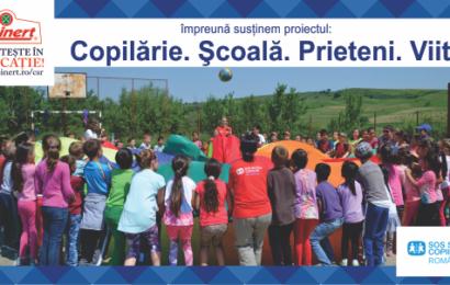 Reinert da o mana de ajutor copiilor dezavantajati de la SOS Satele Copiilor Romania