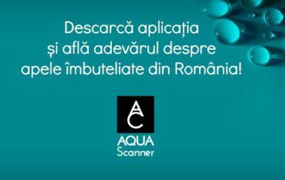 AQUA Carpatica a lansat aplicatia AQUA Scanner prin care poti scana eticheta oricarei ape imbuteliate