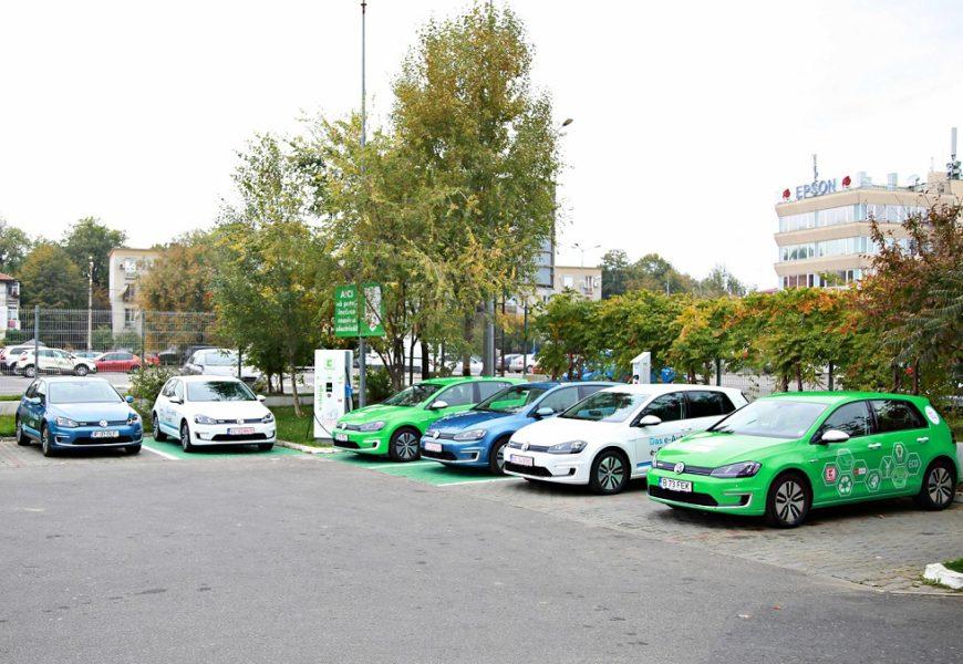 Premieră: Șase mașini electrice vor traversa România, de la București la Timișoara