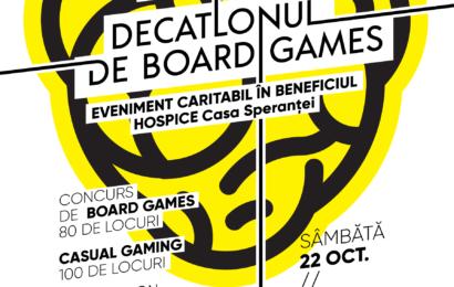Decatlon de board games, organizat pentru copiii îngrijiți în Centrul socio-medical HOSPICE