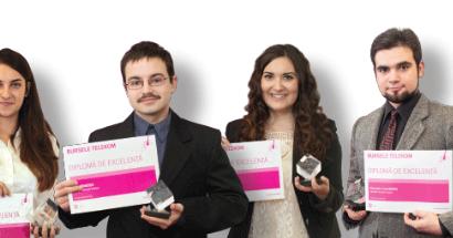 Burse în valoare totală de 112.500 lei oferite de Telekom Romania pentru 10 studenți emeriți