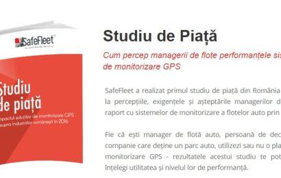 SafeFleet lansează studiul: Impactul soluțiilor de monitorizare GPS asupra industriilor românești