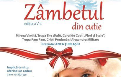 Campania umanitara Zambetul din Cutie – cadouri pentru 8000 de copii nevoiasi