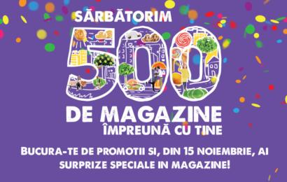 Mega Image sarbatoreste impreuna cu clientii cele 500 de magazine deschise