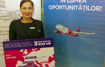 Wizz Air anunță trei rute noi de pe aeroportul din Suceava