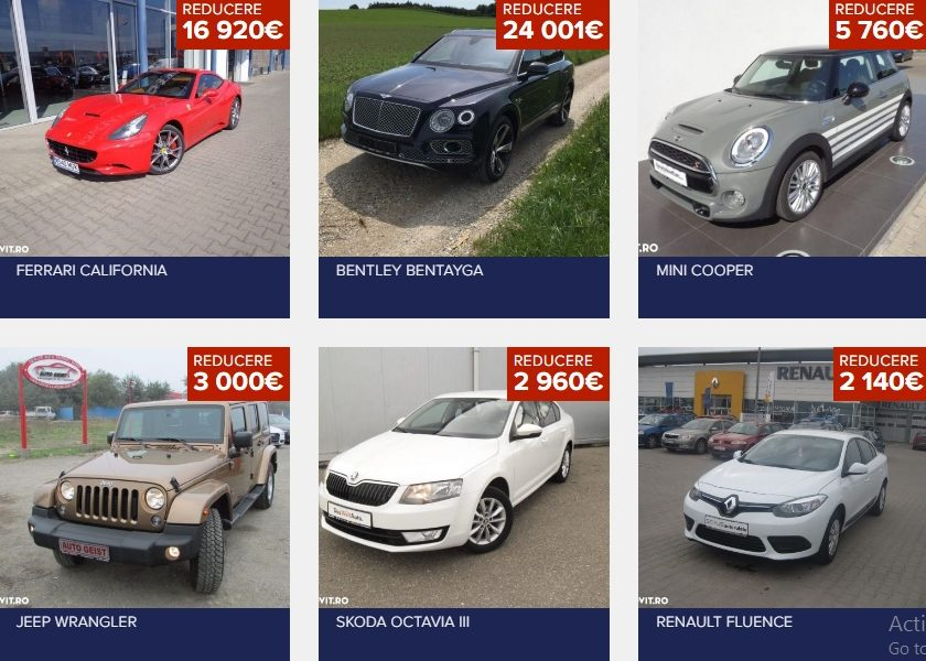 Autovit: În top 10 mărci auto preferate de români se numără Volkwagen, BMW, Audi și Opel