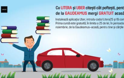 Litera si Uber: de la Gaudeamus mergi gratuit acasă!