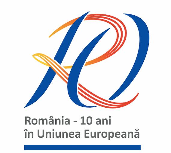 """A fost desemnat castigatorul concursului de logo """"Romania – 10 ani in Uniunea Europeana"""""""
