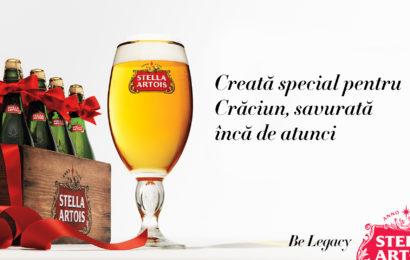 Stella Artois readuce de Sărbători sticla specială în formă de șampanie