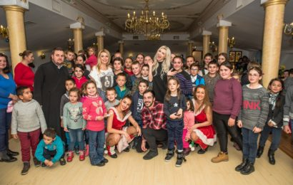 Andreea Balan si Crina Matei au cantat pentru copiii nevoiasi