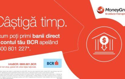 BCR oferă românilor o nouă opțiune de a ridica bani prin MoneyGram