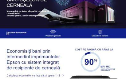 Epson lansează calculatorul online care arată cât pot economisi consumatorii dacă au o imprimantă Epson