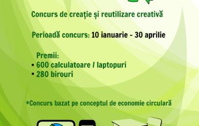 """Concursul """"Let's Be ECO!"""":  280 de birouri și 600 de calculatoare pentru școlile din mediul rural"""