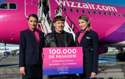 Wizz Air sarbatoreste 100.000 de pasageri transportati pe ruta Bucuresti — Cluj-Napoca