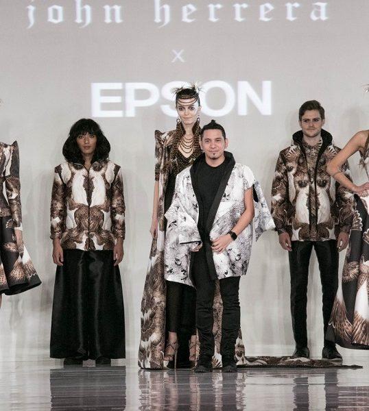 Designerul John Herrera si Epson, la London Fashion Week