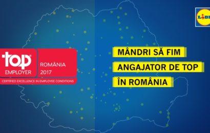 Lidl a fost desemnat drept Angajator de top în România