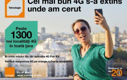 Orange: Reteaua proprie 4G acopera 80% din populatia totala a tarii