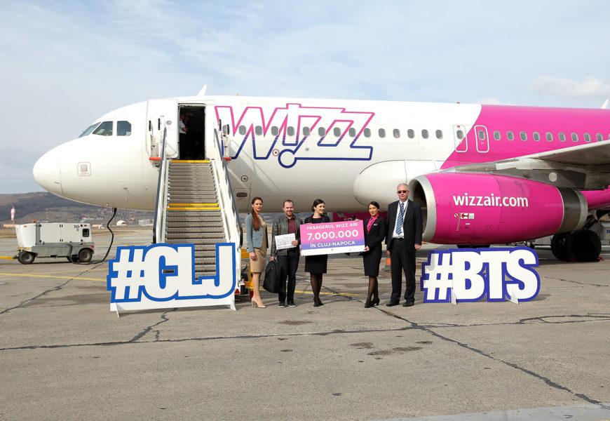 Wizz Air sarbatoreste pasagerul cu numarul 7 milioane din Cluj-Napoca
