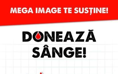 Mega Image sustine cu alimente donatorii de sange din Ploiesti