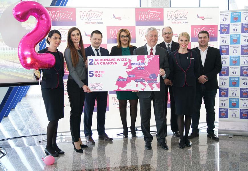 Wizz Air aloca cea de-a doua aeronava in Craiova si lanseaza 5 rute noi