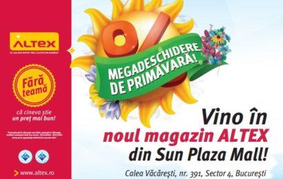 ALTEX deschide un nou magazin în București, în Sun Plaza Shopping Center