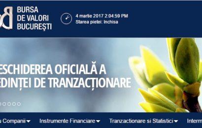 Bursa de la București atinge maximul ultimilor 9 ani