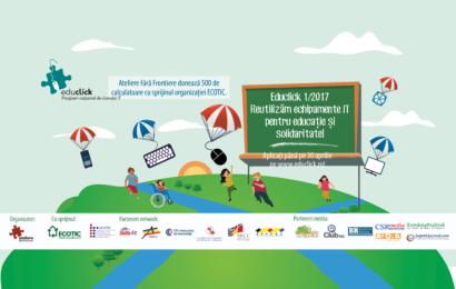 Ateliere Fara Frontiere a lansat o noua editie a programului Educlick