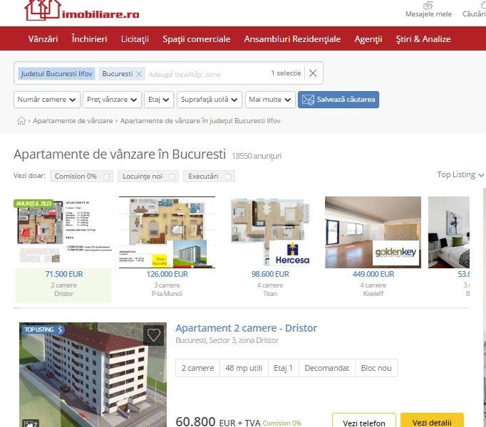 Imobiliare.ro: Apartamentele s-au scumpit cu 4% în primul trimestru