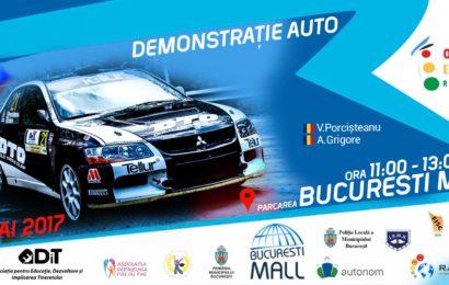 """București Mall : """"Demonstrație auto"""" în parcare alături de Vali Porcișteanu și Adrian Grigore"""