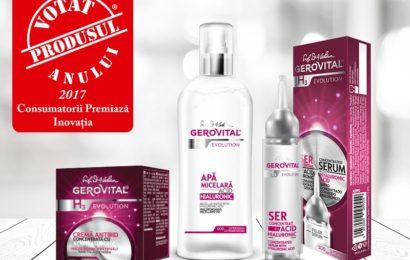 """Gerovital: Distincția """"Produsul Anului 2017"""" pentru noile produse antirid"""
