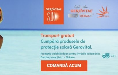 Farmec : extinderea Gamei Gerovital Sun cu 3 noi produse