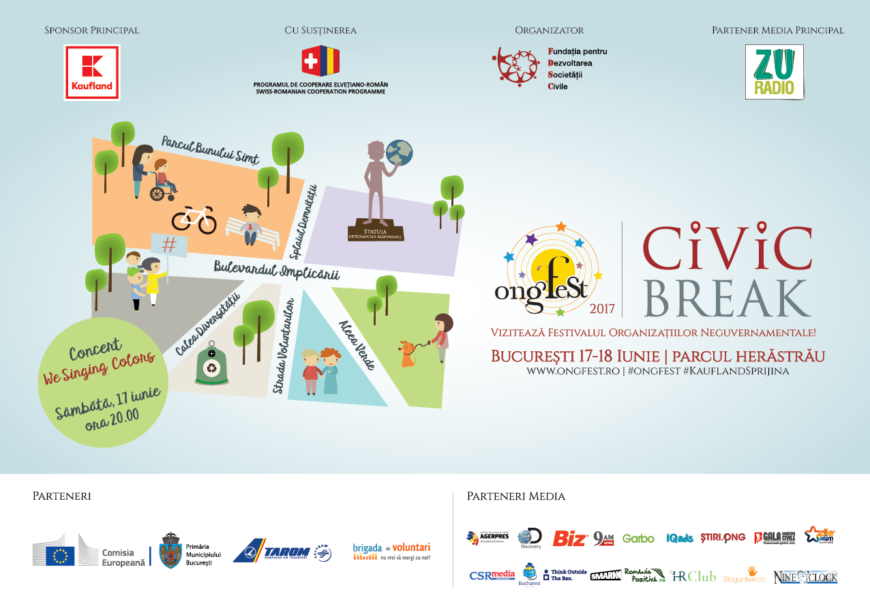Weekendul acesta poti petrece un Civic Break de exceptie la ONGFest Bucuresti
