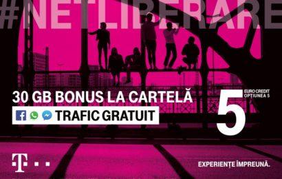 Telekom Romania anunţă noi oferte speciale #Netliberare, de la 5 euro