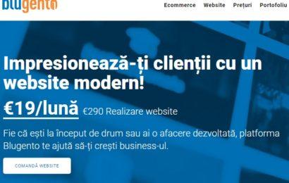 Blugento lansează serviciul de creare de site-uri ce pot fi transformate oricând în magazine online