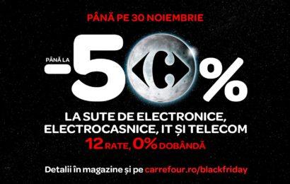 Brack Friday: Reduceri de până la 50% de la Carrefour, toată luna noiembrie!