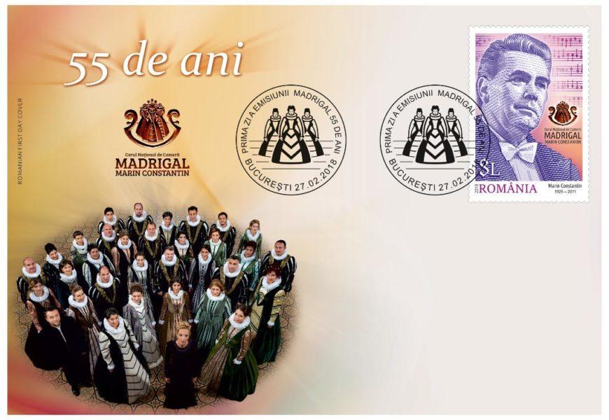 Premiera emisiunii de mărci poștale Madrigal 55