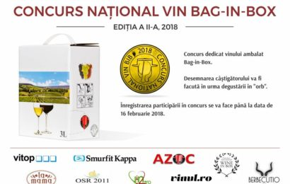 A doua ediție a Concursului Național Vin Bag-in-Box va avea loc pe 26 februarie