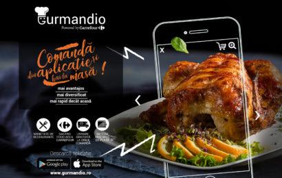 Gurmandio – aplicația pentru comenzi de mâncare dezvoltată de Carrefour