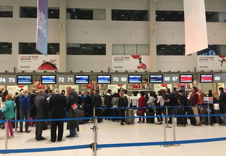 Ghișee de check-in TAROM în noul terminal al Aeroportului Otopeni
