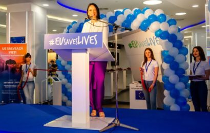 "Plaza România găzduieşte caravana interactivă ""UE salvează vieți"""