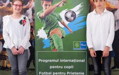 Fotbal pentru prietenie 2018: Doi copii români merg la Moscova