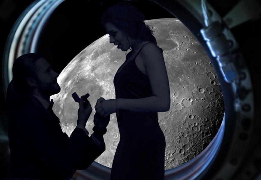 Poți să îți ceri iubita de soție în jurul Lunii, dar cu un preț pe măsură