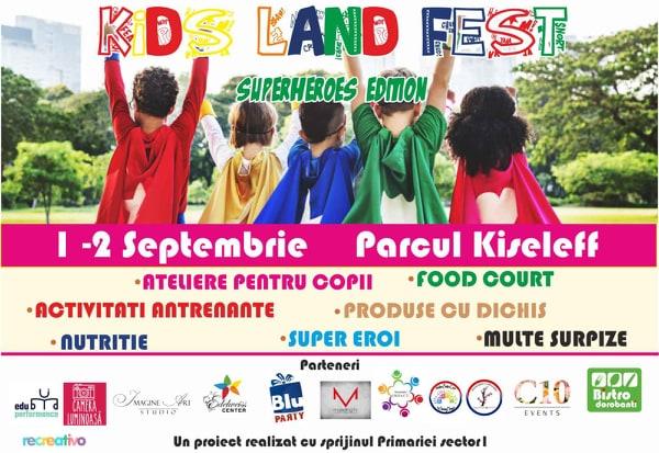 Kids Land Fest va avea loc pe 1 și 2 septembie în parcul Kiseleff