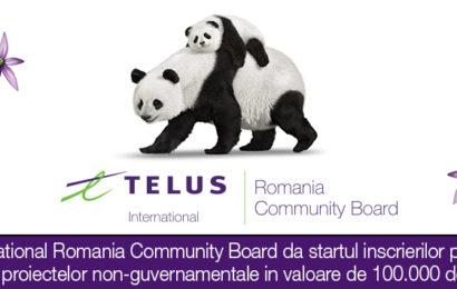 Fundatia TELUS International Romania: Finantari de 100.000 dolari pentru ONG-uri si in 2019