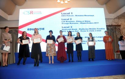 Companiile pot inscrie proiecte in competitia Romanian CSR Awards 2019