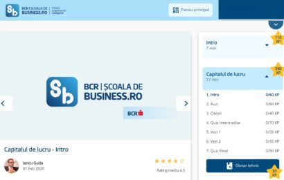 BCR a lansat Scoala de Business, un program de educatie de business